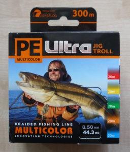 Упаковка от шнура для морской рыбалки