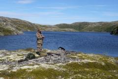 Летняя охота на кумжу и гольца с берега